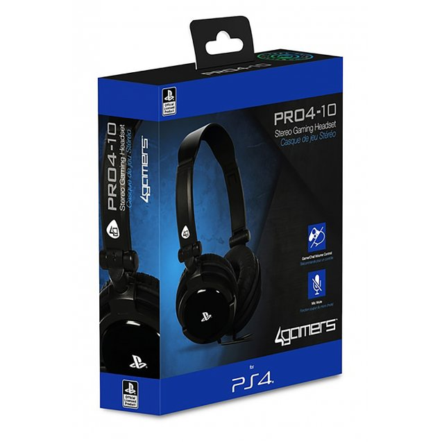 4Gamers PRO4-10 Stereo Gaming Headset (Black)