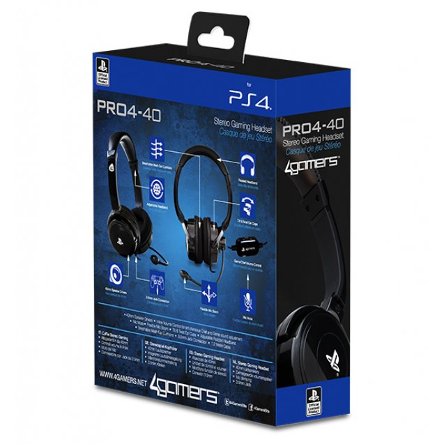 4Gamers PRO4-40 Stereo Gaming Headset (Black)