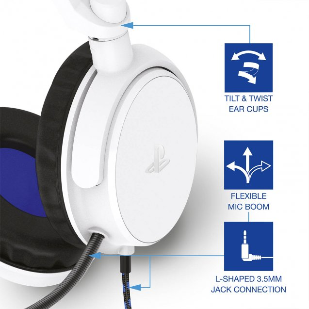 4Gamers PRO4-50s Stereo Gaming Headset (White)