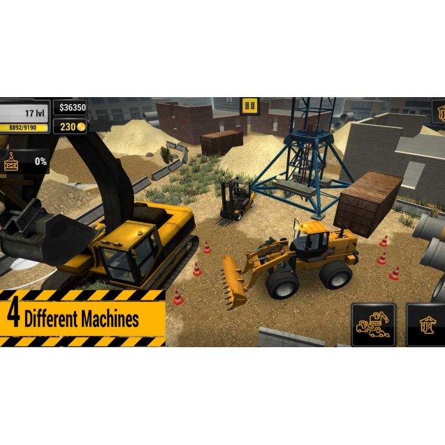 Construction Machines Simulator Switch
