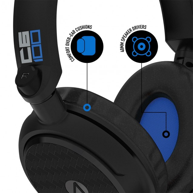 STEALTH C6-100 Stereo Gaming Headset & Stand Black/Blue