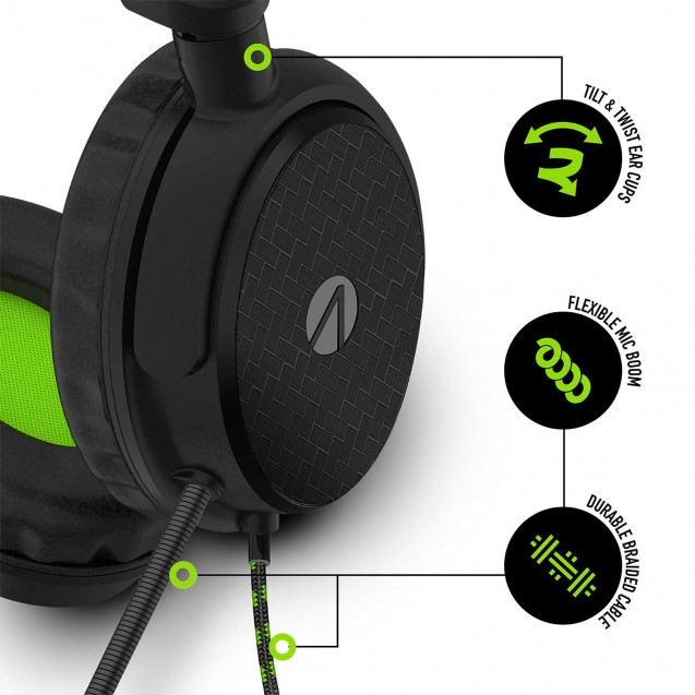 STEALTH C6-100 Stereo Gaming Headset & Stand Black/Green