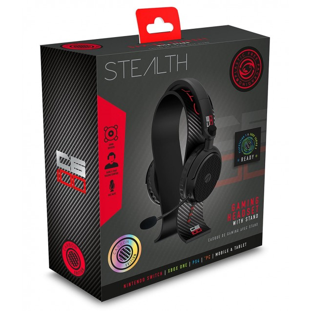 STEALTH C6-100 Stereo Gaming Headset & Stand Black/Red