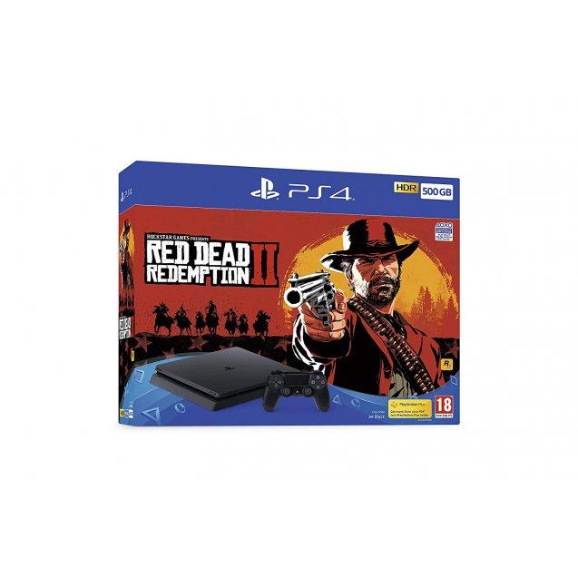 Sony PlayStation 4 500GB Black + RED DEAD REDEMPTION 2 Bundle