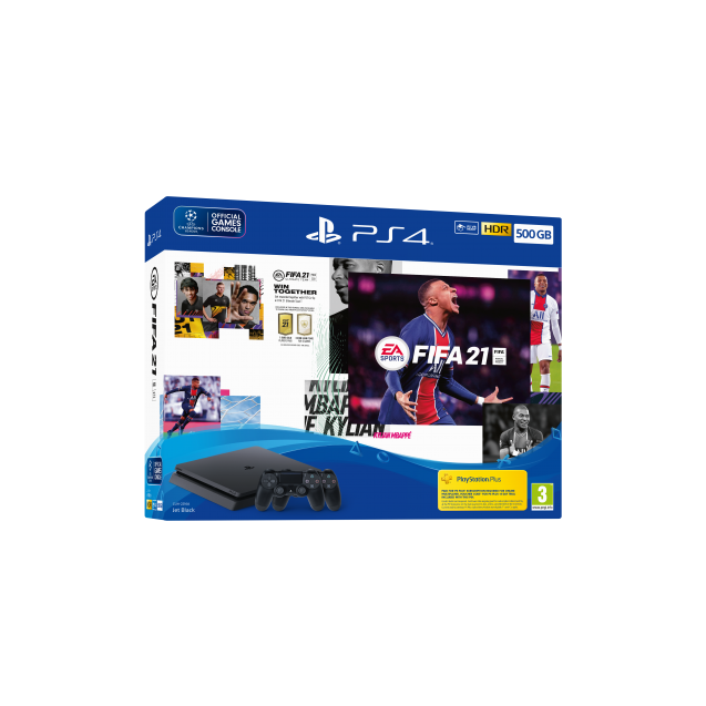 EA SPORTS™ FIFA 21 500GB PS4™ Console + Second DUALSHOCK®4 Wireless Controller Bundle