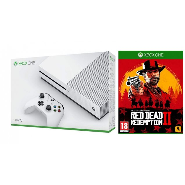 Xbox One S 1Tb Black + Red Dead Redemption 2 Bundle